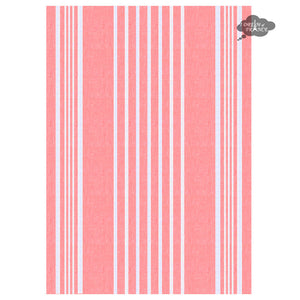 Harmony Linea French Linen Kitchen Towel - Papaya Pink