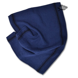 Olbia Indigo French Linen Kitchen Towel by Harmony