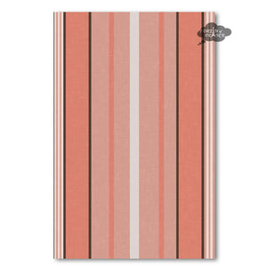 Piana Peach French Linen Kitchen Towel by Harmony