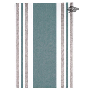 Roma Prussian Blue French Linen Kitchen Towel by Harmony