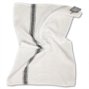 Vivario Granit & White French Linen Kitchen Towel by Harmony