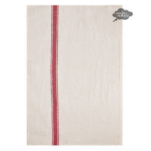 Vivario Red & White French Linen Kitchen Towel by Harmony
