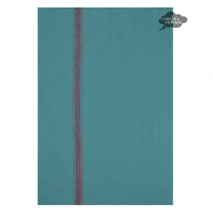 Harmony Vivario French Linen Kitchen Towel - Turquoise