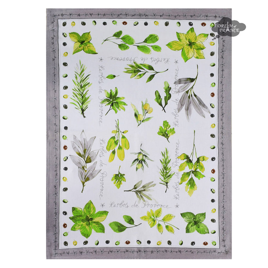 Herbes de Provence French Cotton Kitchen Towel by L'Ensoleillade
