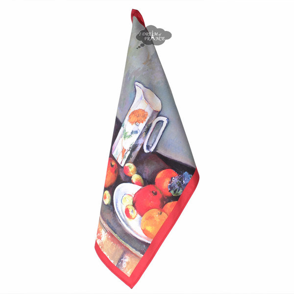 Cezanne Jug and Fruits French Kitchen Towel by L'Ensoleillade