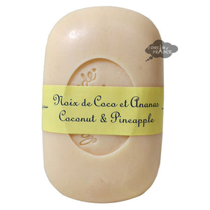 La Lavande French Curved Soap - Coconut Pineapple