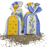 French Lavender sachets with Lavandou Fabric - Set of 4