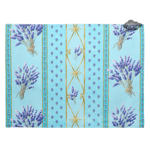 Lavender Blue Coated Reversible Placemat by Le Cluny