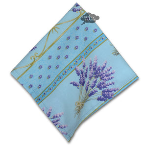 Lavender Blue Full Pattern Provence Cotton Napkin by Le Cluny