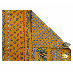 Olives Yellow Coated Reversible Placemat by Le Cluny