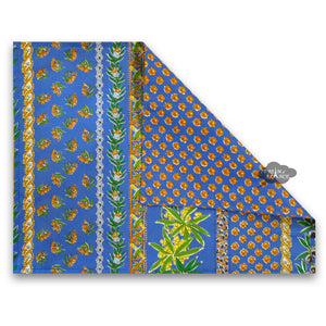 Olives Blue Coated Reversible Placemat  by Le Cluny