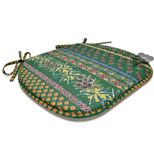 Olives Green Coated French Style Chair Pad by Le Cluny