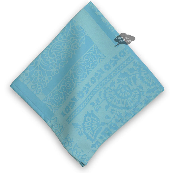 Damask Blue Napkin by Le Cluny