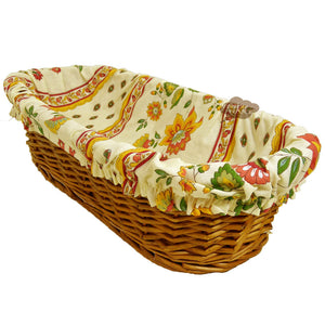Fayence Cream French Baguette Basket with Removable Liner by Le Cluny
