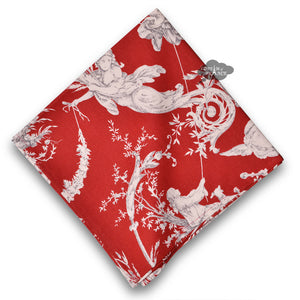 Montespan Toile Red Cotton Napkin by Le Cluny
