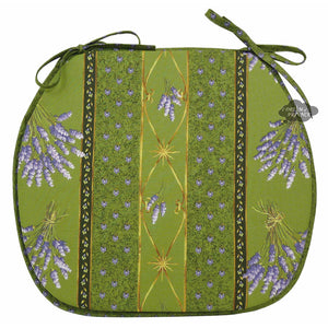 Lavender Green Coated French Style Chair Pad by Le Cluny