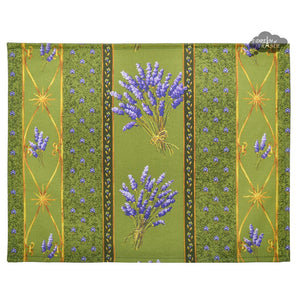 Lavender Green Coated Reversible Placemat by Le Cluny