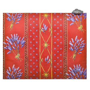 Lavender Red Coated Reversible Placemat by Le Cluny