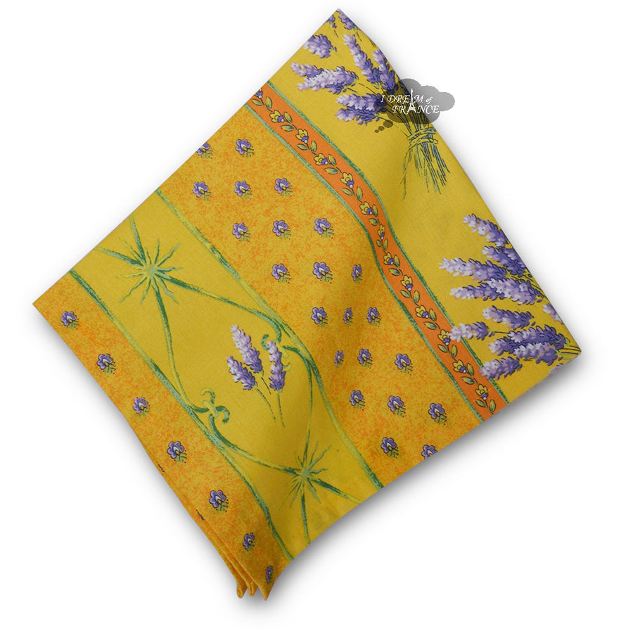 Lavender Yellow Provence Cotton Napkin by Le Cluny