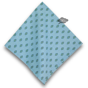 Lisa Turquoise Provence Cotton Napkin by Le Cluny