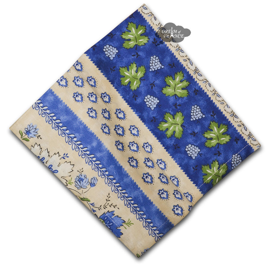 Monaco Beige Full Pattern Provence Cotton Napkin by Le Cluny