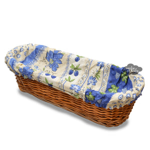 Monaco Beige French Baguette Basket with Removable Liner by Le Cluny