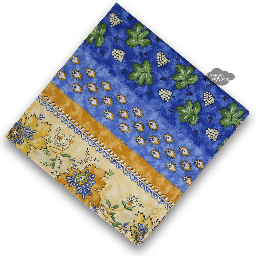 Monaco Blue Full Pattern Provence Cotton Napkin by Le Cluny