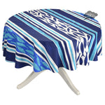 """70"""" Round Fishy Fish Cotton Coated French Tablecloth by Le Cluny"""