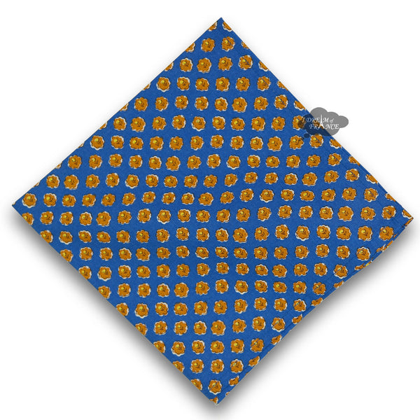 Olives Blue Provence Cotton Napkin by Le Cluny
