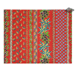 Olives Red Coated Reversible Placemat by Le Cluny