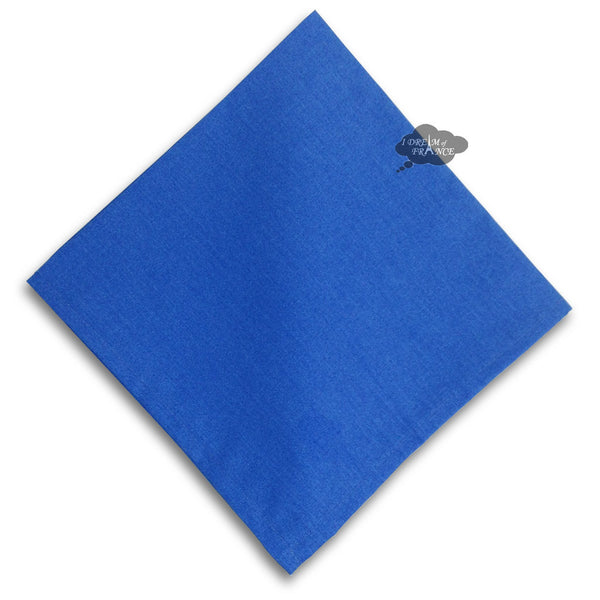 Solid Blue Provence Cotton Napkin by Le Cluny