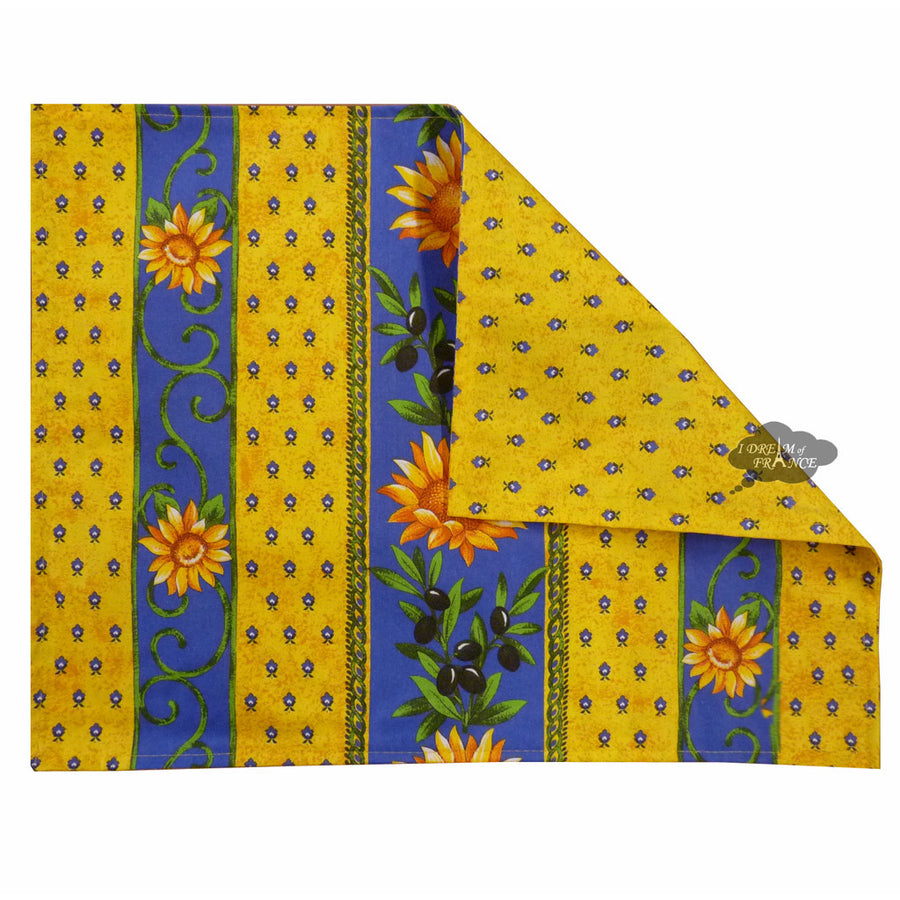 Sunflower Blue Coated Reversible Placemat by Le Cluny