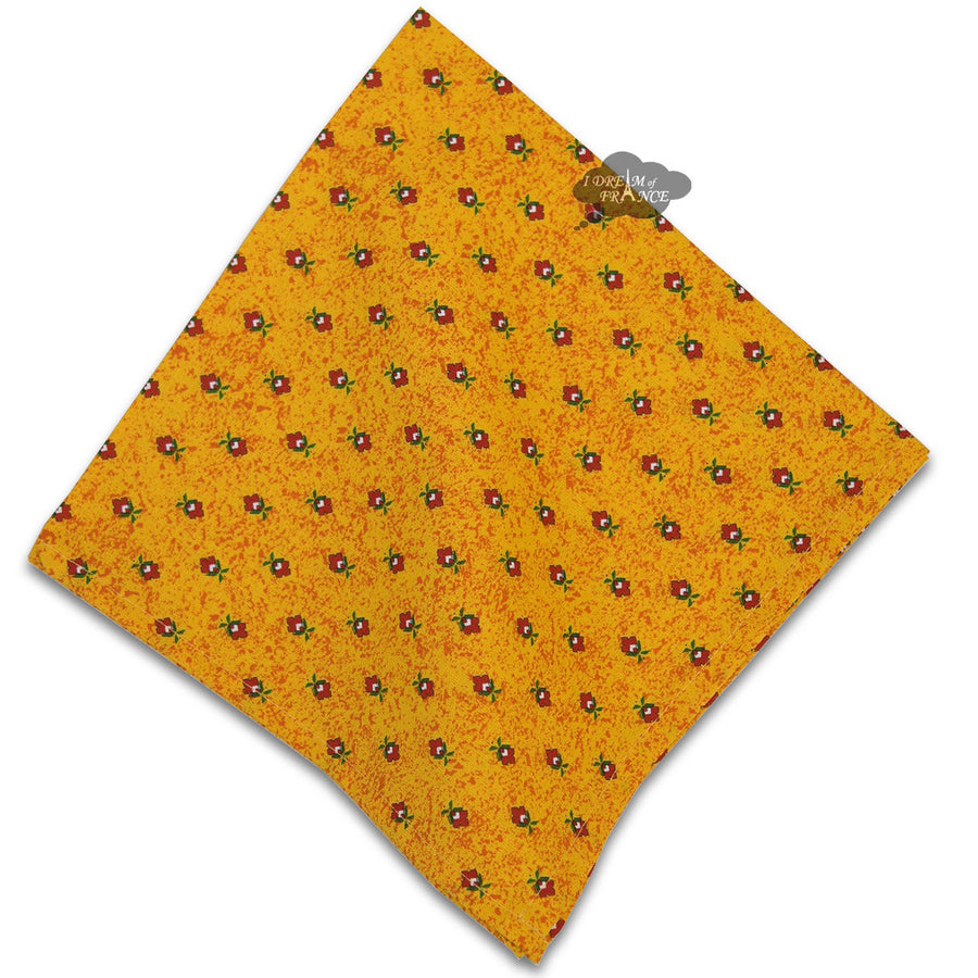 Sunflower Red Provence Cotton Napkin by Le Cluny
