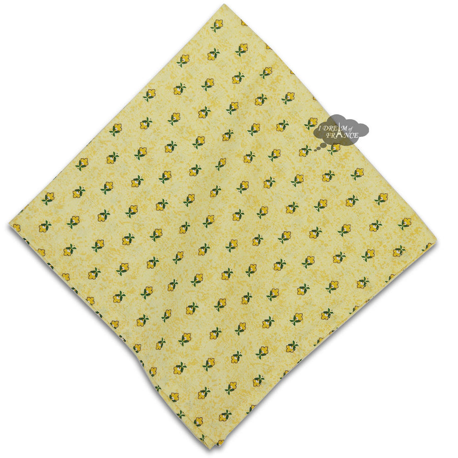 Sunflower Yellow Provence Cotton Napkin by Le Cluny
