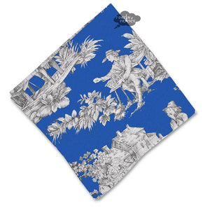 Villandry Blue French Toile Cotton Napkin by Le Cluny