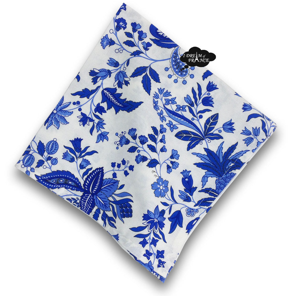 Versailles Blue Provence Cotton Napkin by Le Cluny