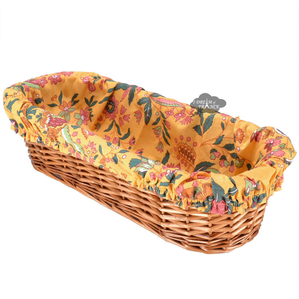 Versailles Yellow French Baguette Basket with Removable Liner by Le Cluny