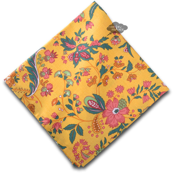 Versailles Yellow French Cotton Napkin by Le Cluny