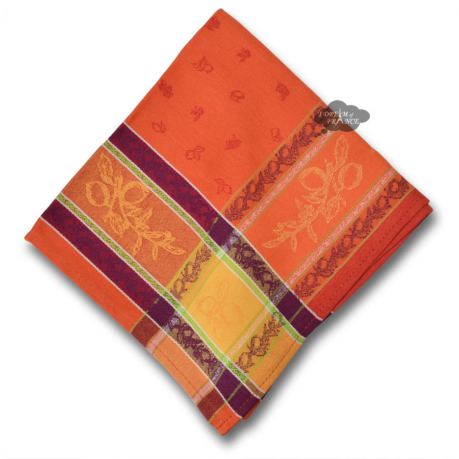 Lemon Rust French Jacquard Napkin