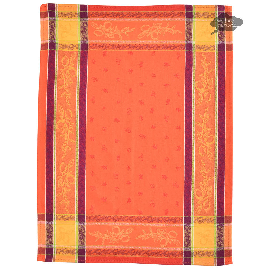 Lemon Rust Cotton Jacquard Dish Towel