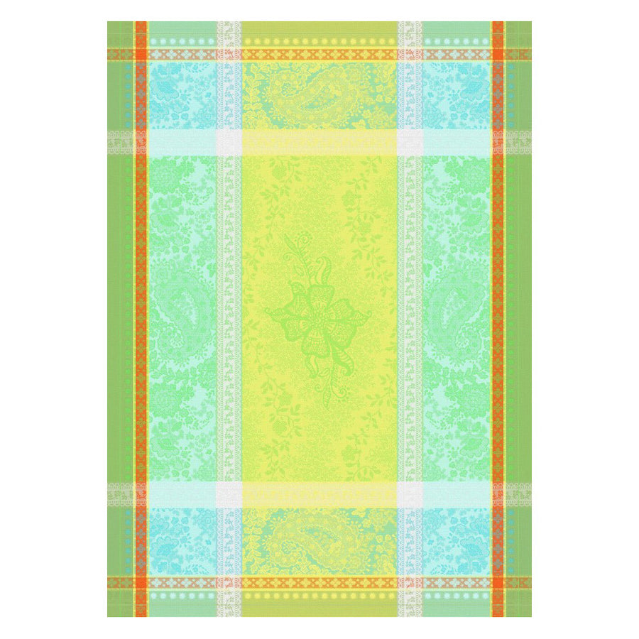 Anais Green Cotton French Jacquard Dish Towel