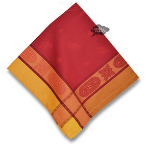 Arlesienne Red French Jacquard Cotton Napkin