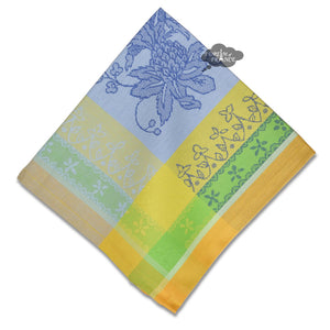 Cotignac Blue French Jacquard Cotton Napkin