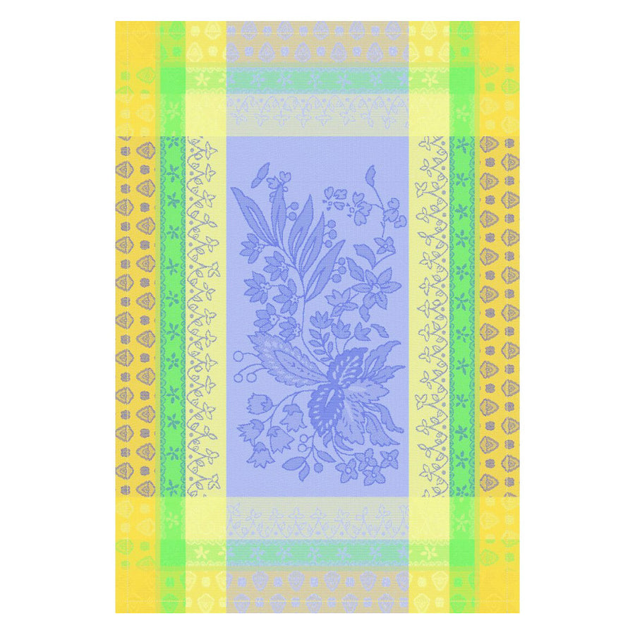 Cotignac Blue Cotton French Jacquard Dish Towel