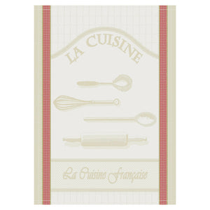 Cuisine Francaise Cotton French Jacquard Dish Towel