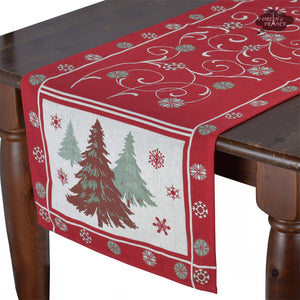"20x64"" Etoile de Neige French Tapestry Table Runner with Teflon"