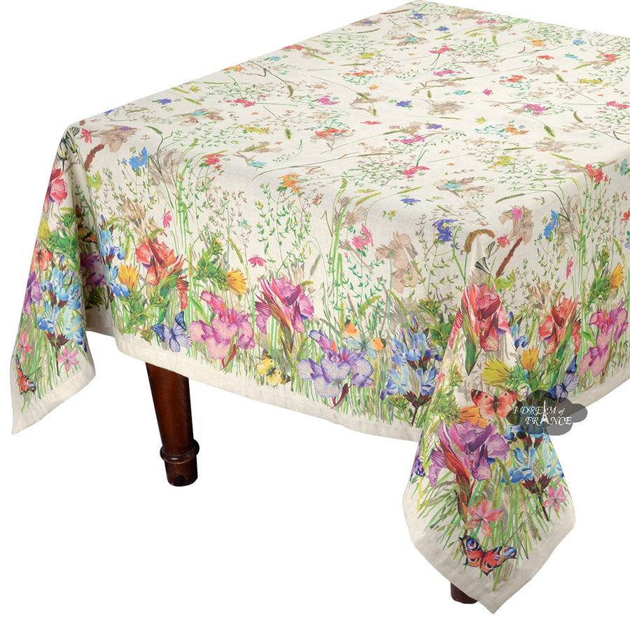 "70"" Square Mariola French Linen Blend Tablecloth"