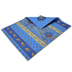 Lisa Blue Coated Cotton Reversible Placemat  by Le Cluny
