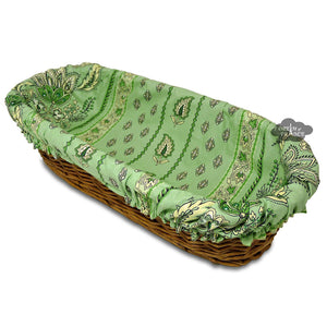 Lisa Pistachio French Baguette Basket with Removable Liner by Le Cluny
