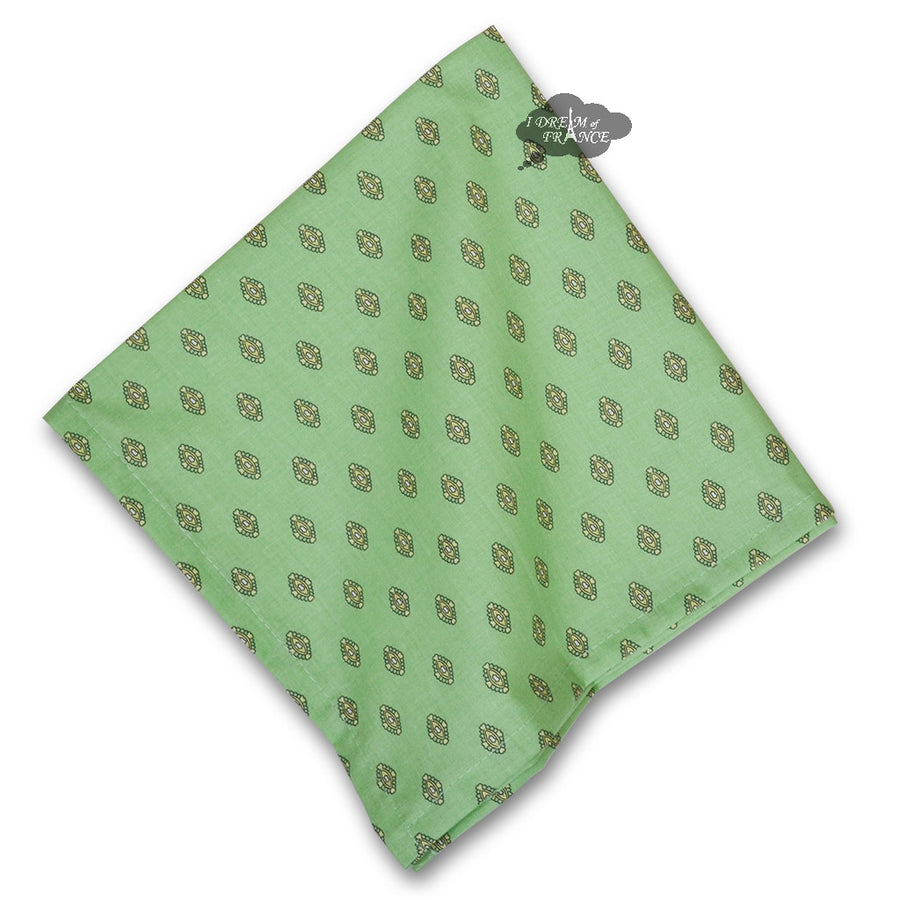 Lisa Pistachio French Country Cotton Napkin by Le Cluny